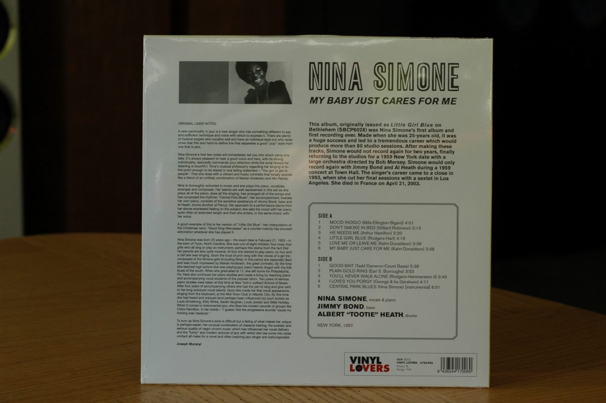 Nina Simone- My Baby Cares For Me