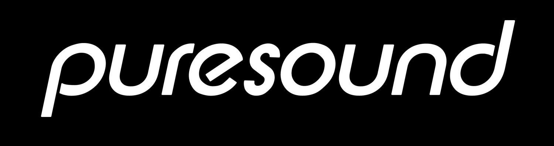 final puresound logo white text